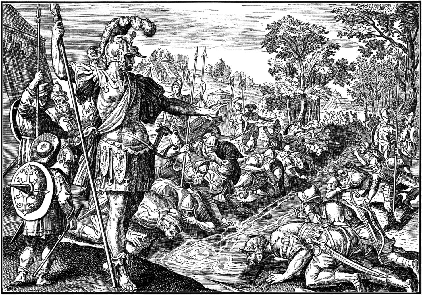 In the Bible Judges Gideon