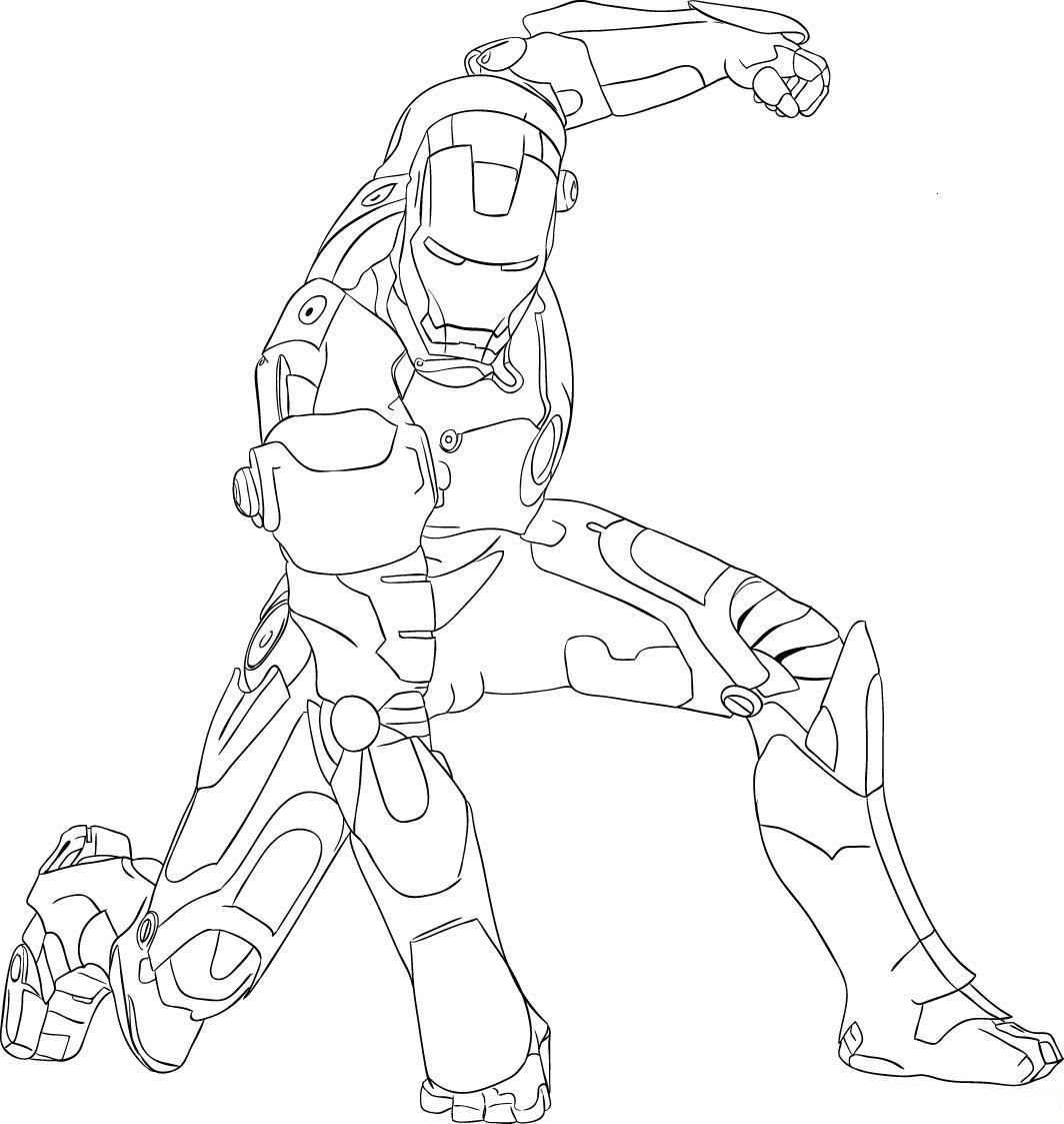 Drawing Iron Man Child Coloring