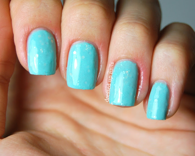 Dressed Up Nails - Delush Polish Opalesque swatch