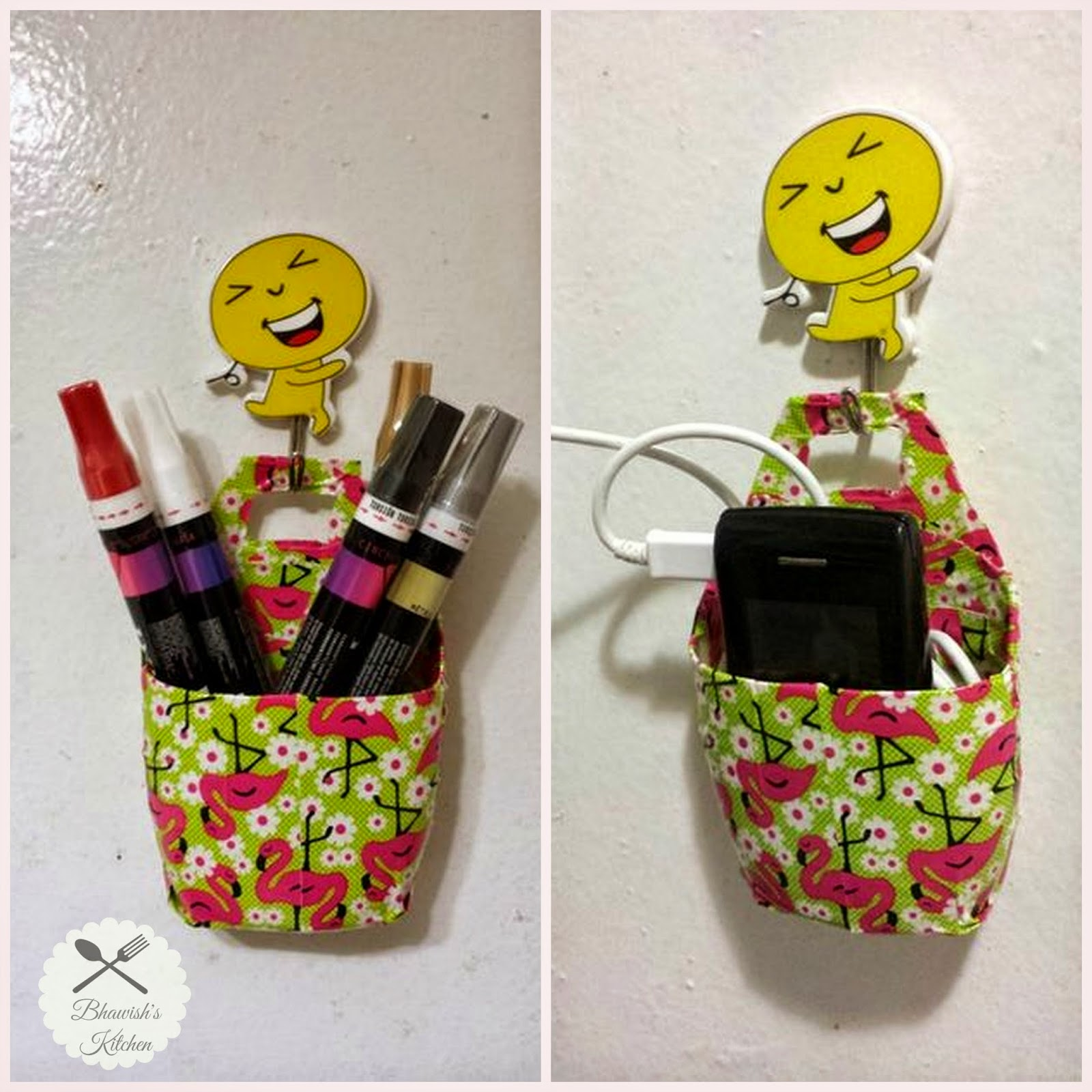 Multi-purpose holder from old lotion/shampoo bottles