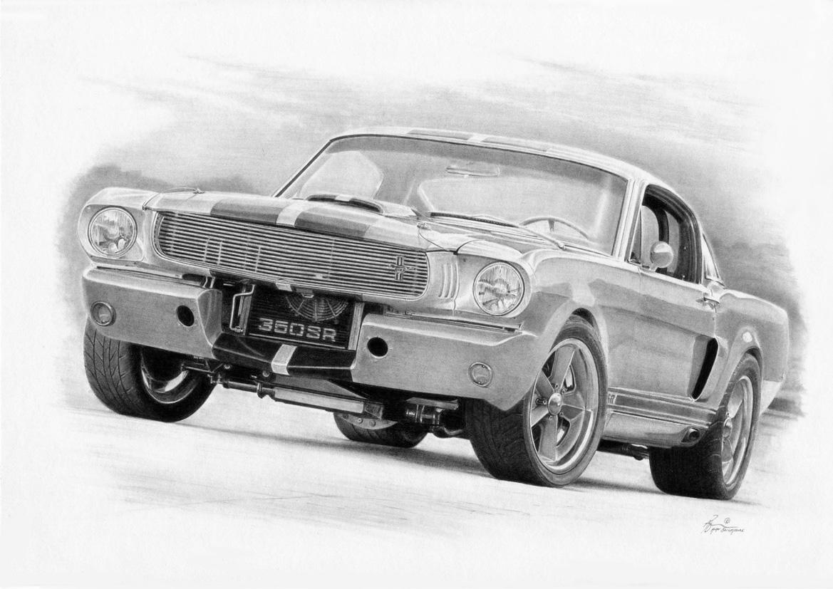 нарисованный ford mustang 1967