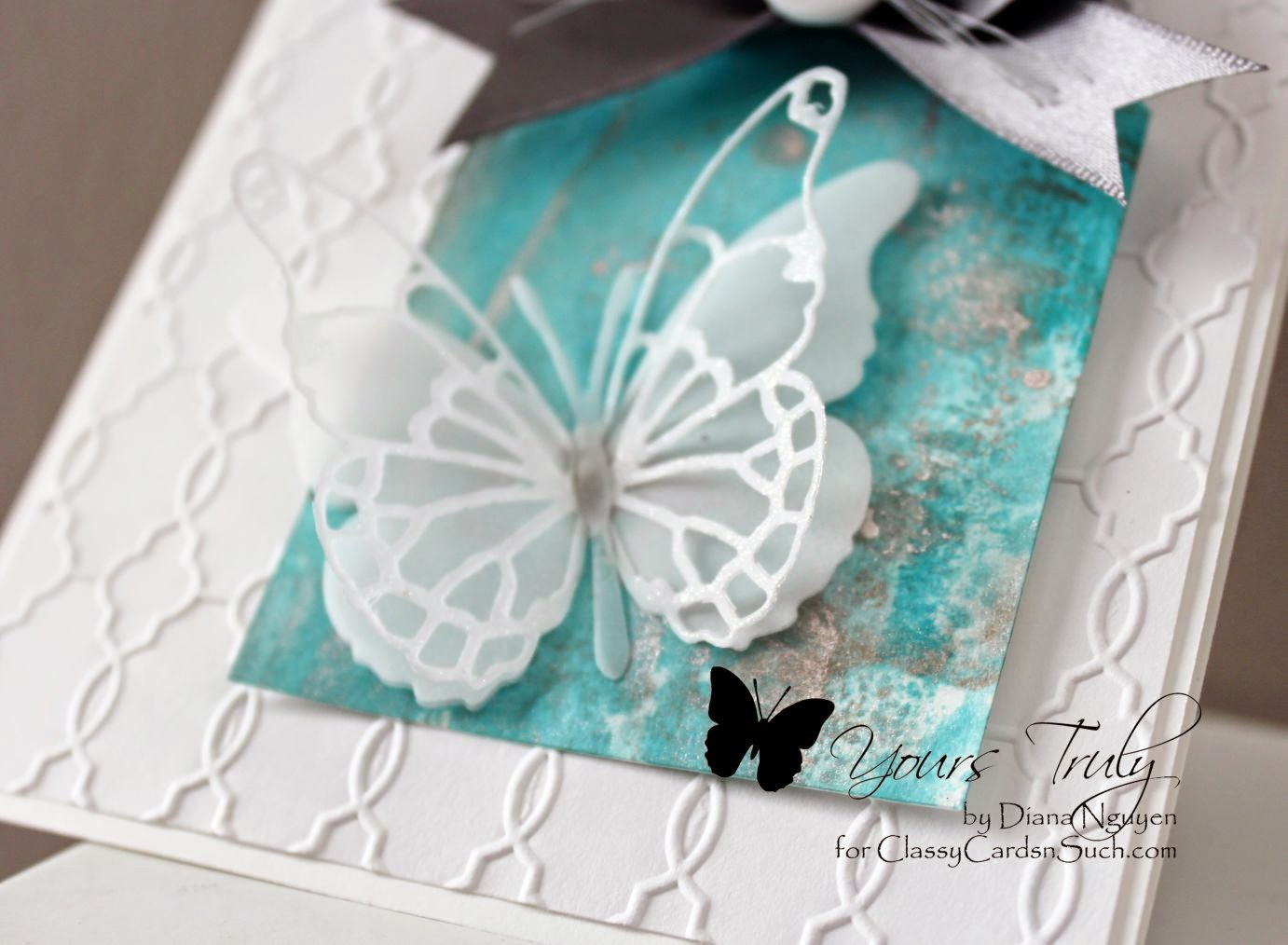 Diana Nguyen, butterfly, tag, cards, memory box, tim holtz