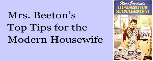Mrs Beetons Top Tips for the Modern Housewife Glamumous