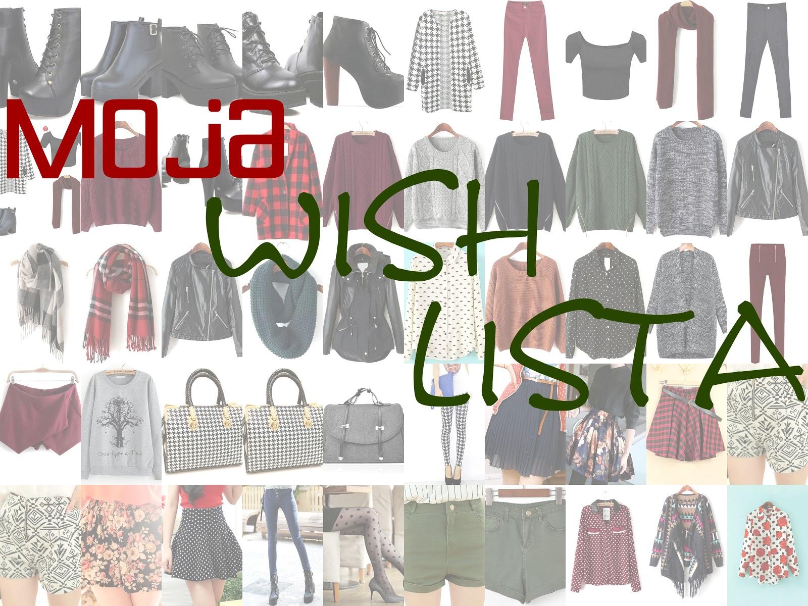 Moja wish lista + moje zamążpójście