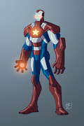 With Iron Man 3 coming out I decided to take a crack at the Iron Patriot . (iron patriot final)