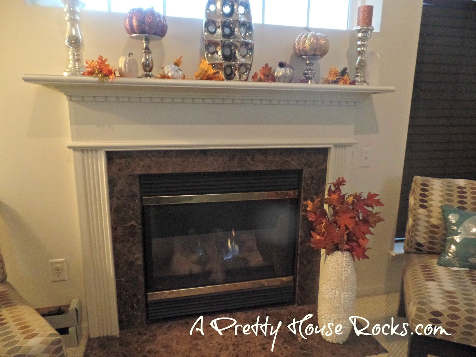 fall decor for the fireplace and family room a pretty house