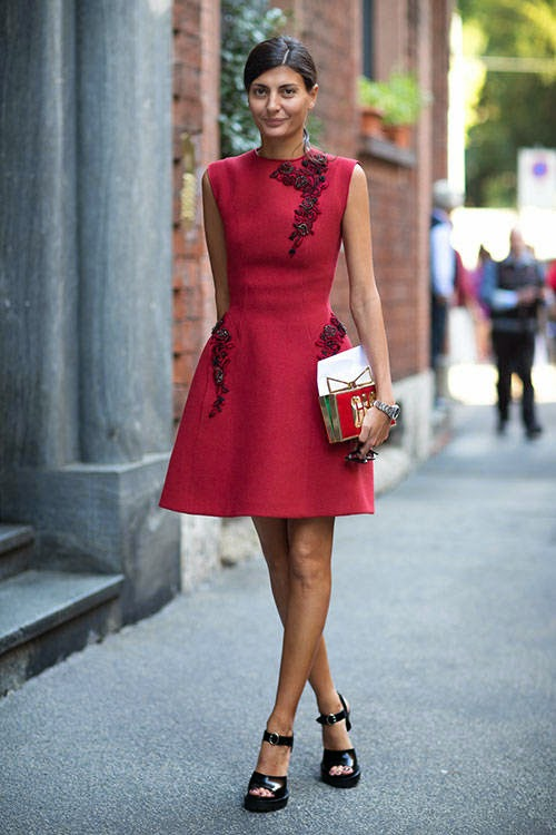 Outfit vestido rojo formal