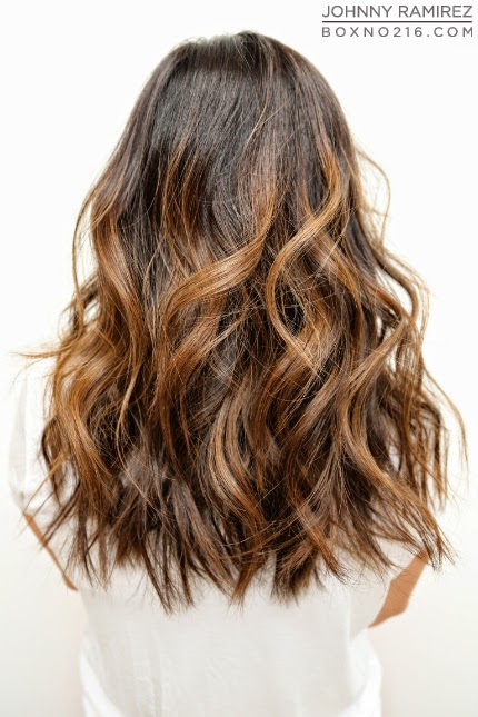 Chestnut Hair Color With Amber Highlights All done in one day @ the