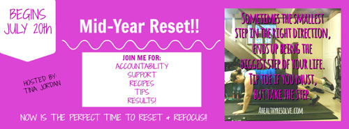 Join me for accountabilty, support recipes, tips and results! Let me help you reset and refocus on your health and fitness goals! Click HERE to join!