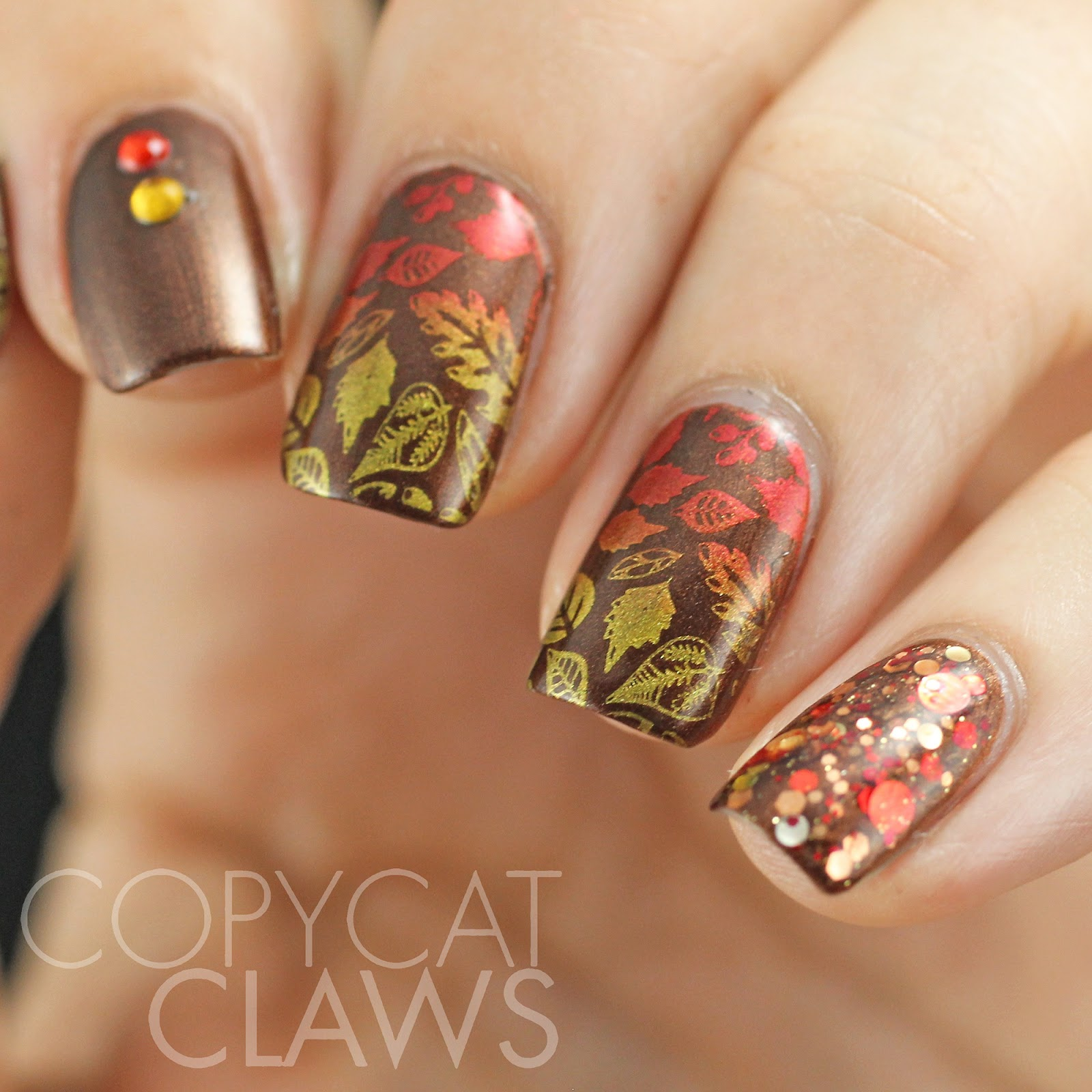 Last Autumn Nail Art Of The Year: Copycat Claws: Sunday Stamping