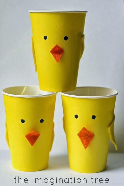 Vasos con forma de pollitos tutorial ideas y material - Vasos para cumpleanos infantiles ...