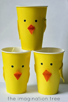 How to Make Chick-Shaped Cups.
