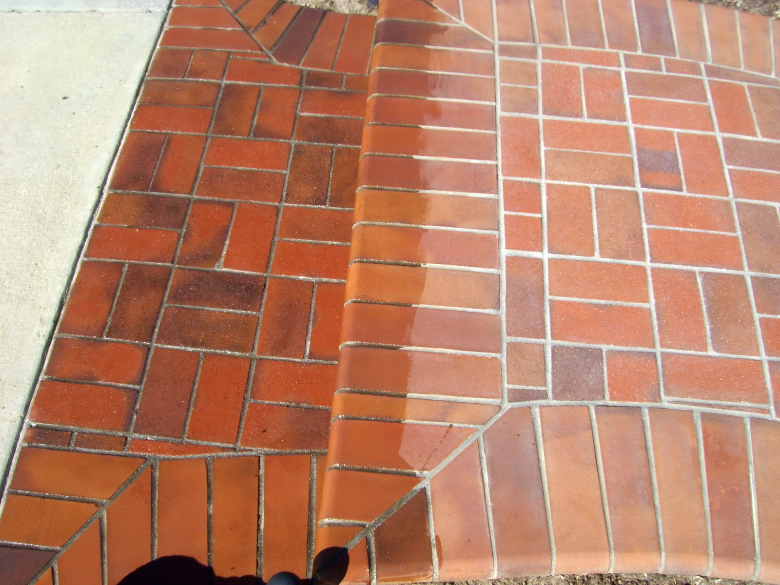 how to clean red brick hearth