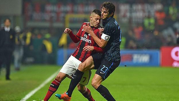 Inter Milan vs AC Milan . Calcio Serie A 19-04-2015