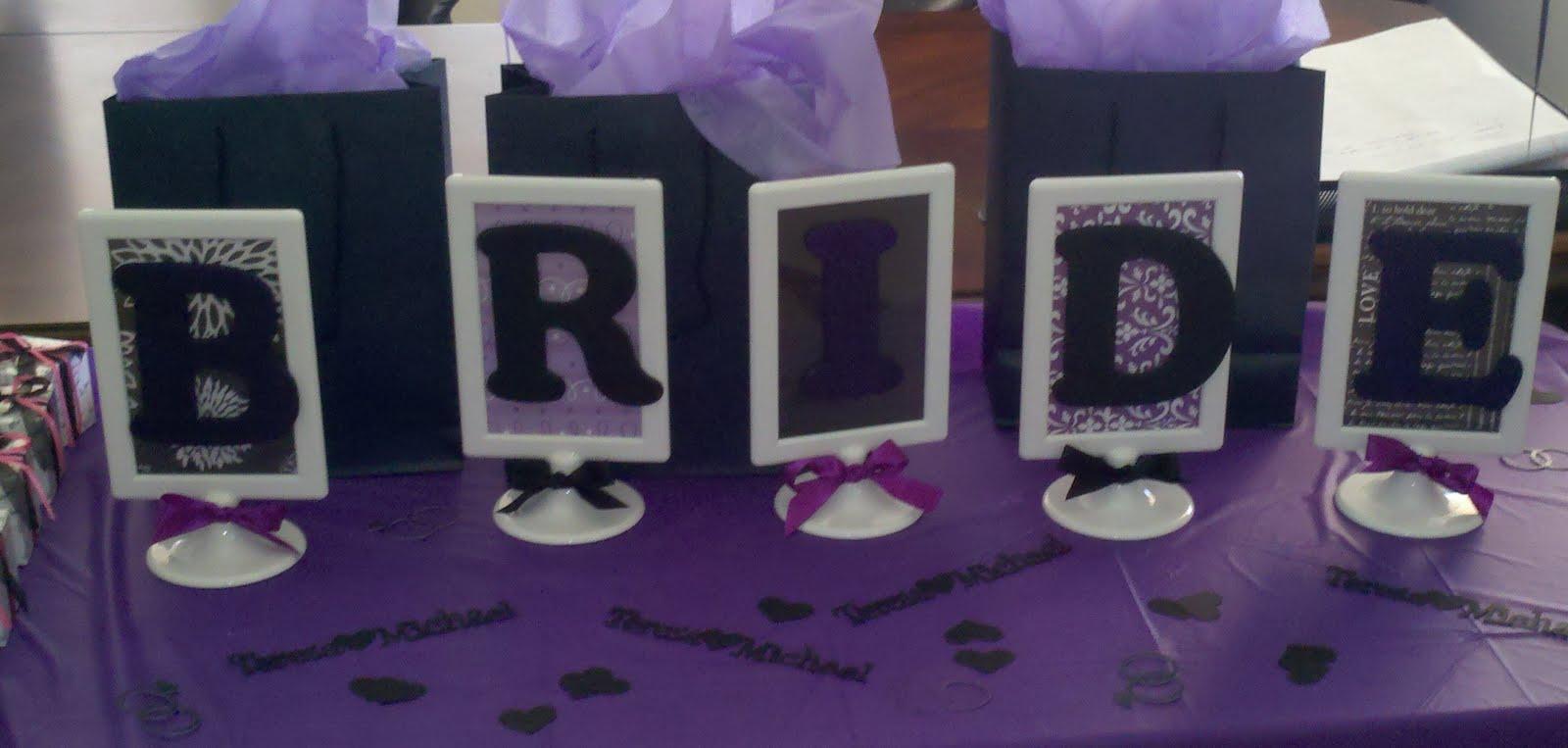 bridal shower purpleblack