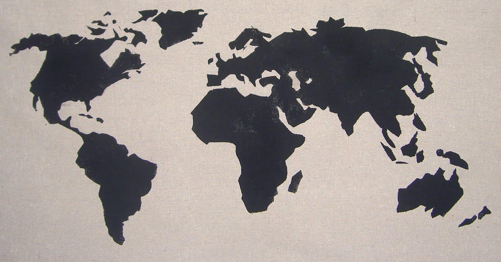 Chapman Place World Map Pillow