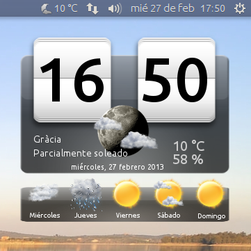 El blog del escribano ubuntu my weather indicator el tiempo y la previsi n en tu escritorio - El tiempo en tu escritorio ...