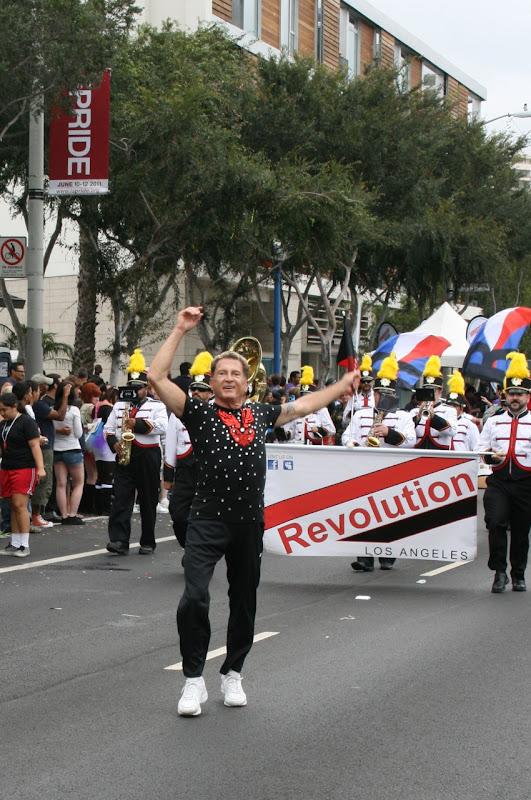 Baton twirler WEHO Pride Parade 2011