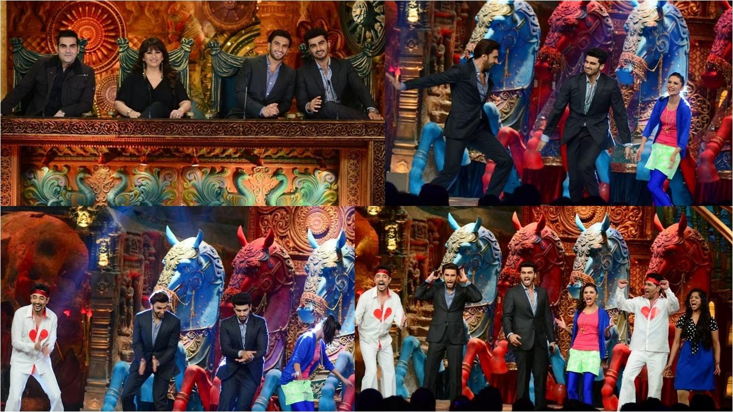 Arjun Kapoor, Priyanka Chopra and Ranveer Singh at Comedy Circus