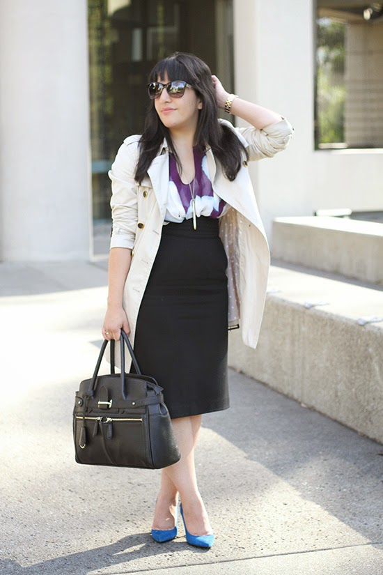 Pen Necklace and Pencil Skirt