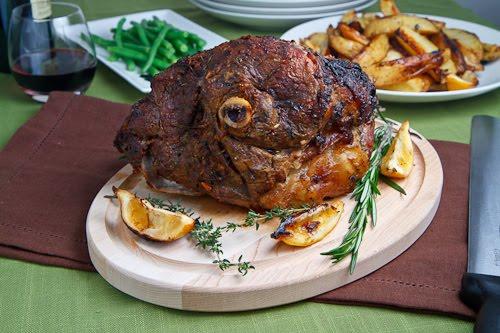 recipe: greek roast lamb [9]