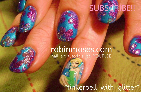 Tinkerbell Nail Art Designs