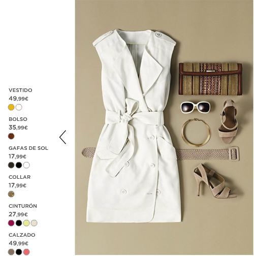 Vestido blanco Mango verano 2012