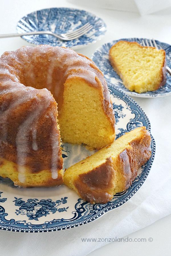 Dolce senza burro ricetta facile ciambella alla ricotta e limone buona e soffice - light low fat soft easy lemon bundt cake recipe