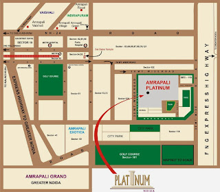 Amrapali Platinum :: Location Map