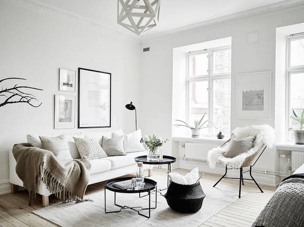 my scandinavian home a small swedish space in winter whites. Black Bedroom Furniture Sets. Home Design Ideas