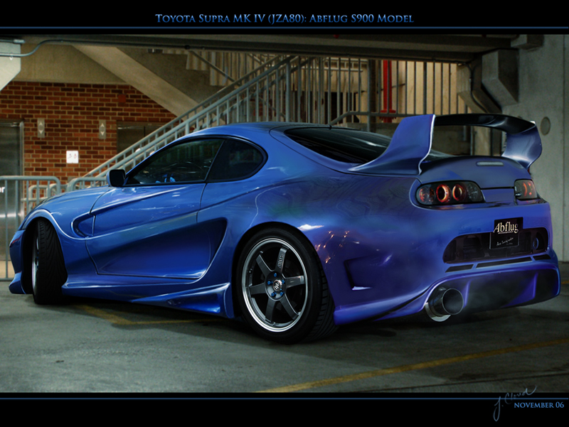 Toyota Supra Sports Car Rear View