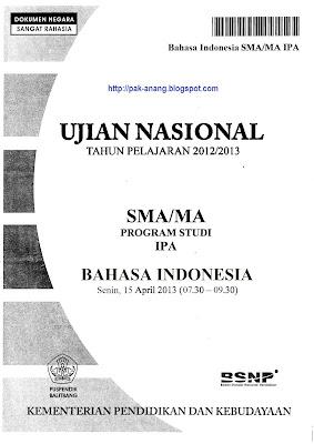 Naskah Soal Un Bahasa Indonesia Sma 2013 Paket 1 1xdeui