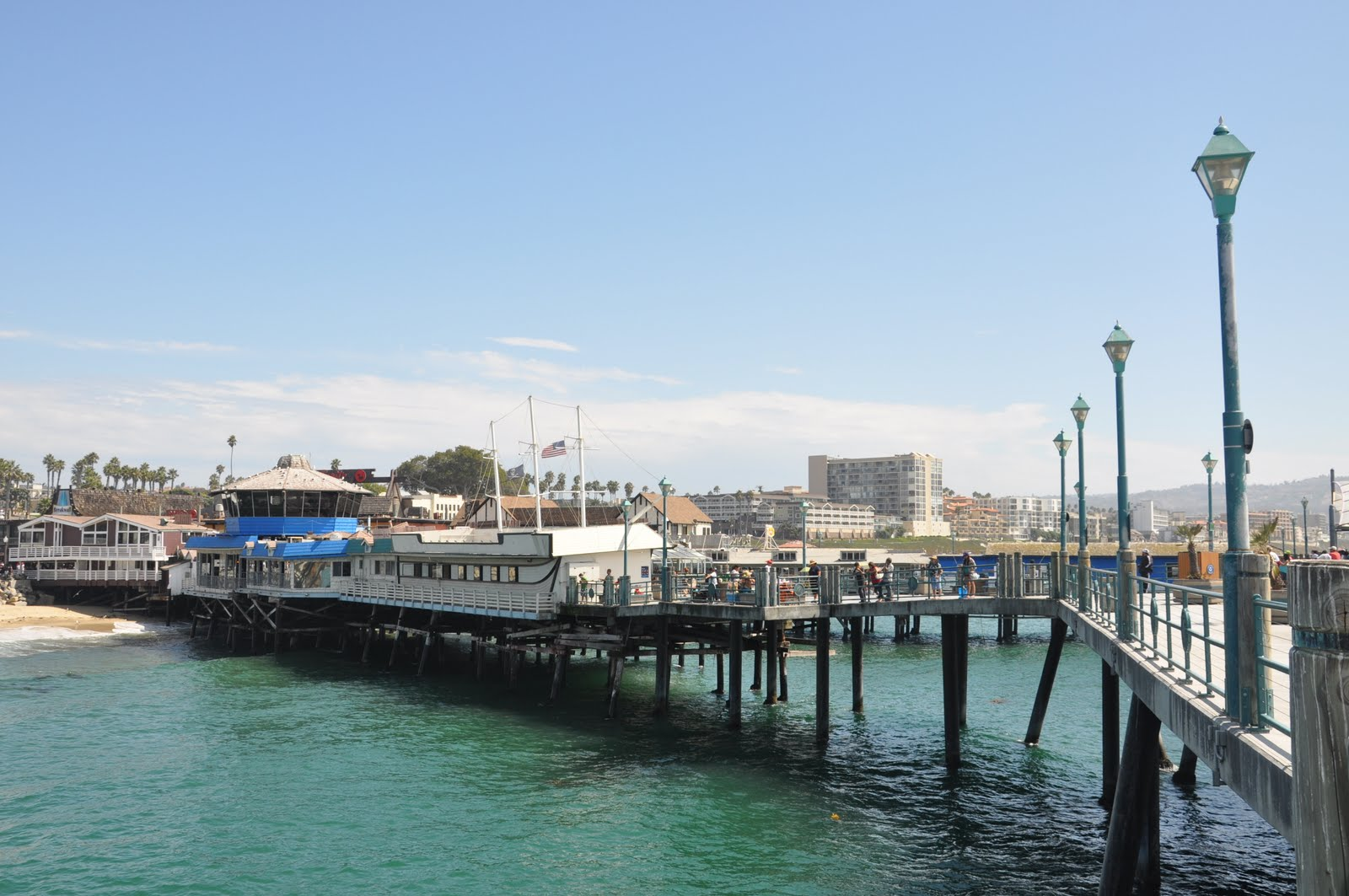 Labor day in la feathers too bright for Redondo beach pier fishing