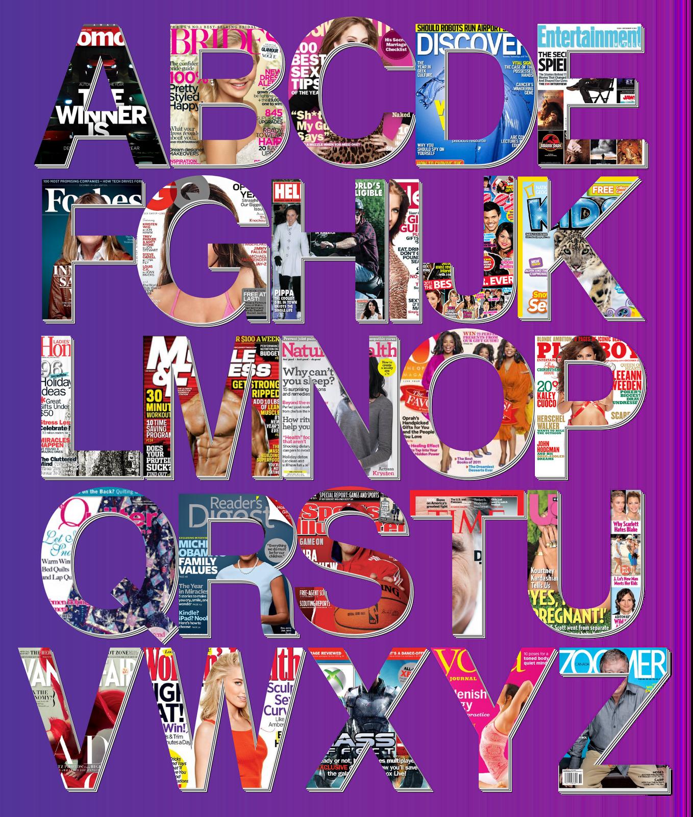 Mike baboon design magazine alphabet