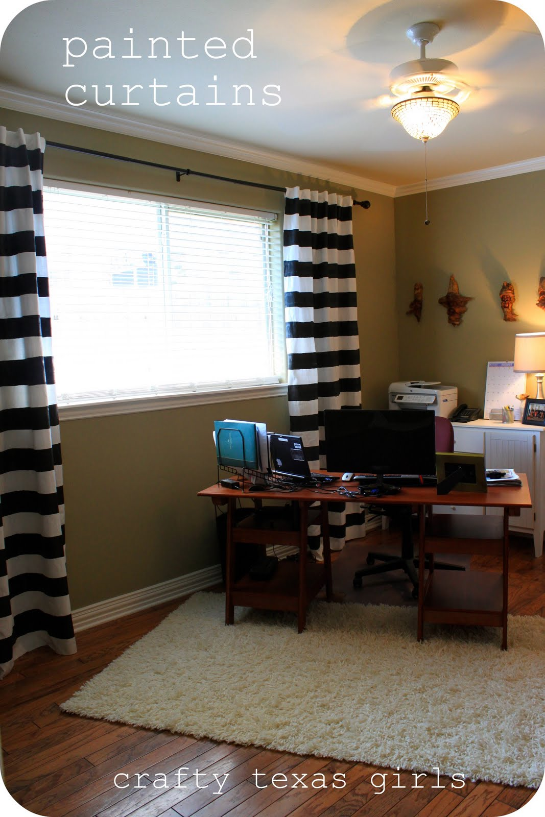 Black and white striped curtains living room - When They Were Done I Hung Them Using The 3 Rules I Think They Made A Huge Difference In The Room