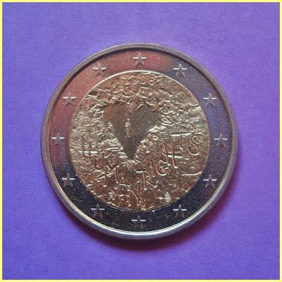 2 Euros Finlandia 2008 Derechos Humanos