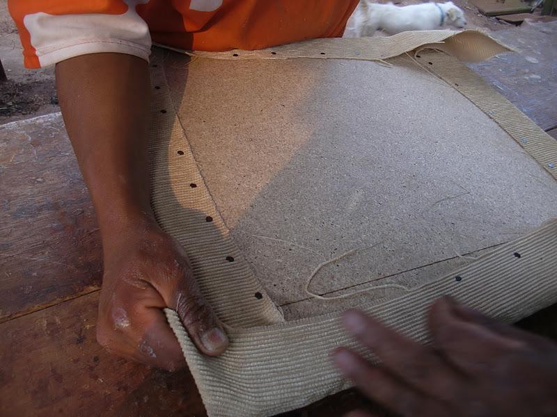 Decoraciones manualidades en madera: empezando a tapizar partes de ...