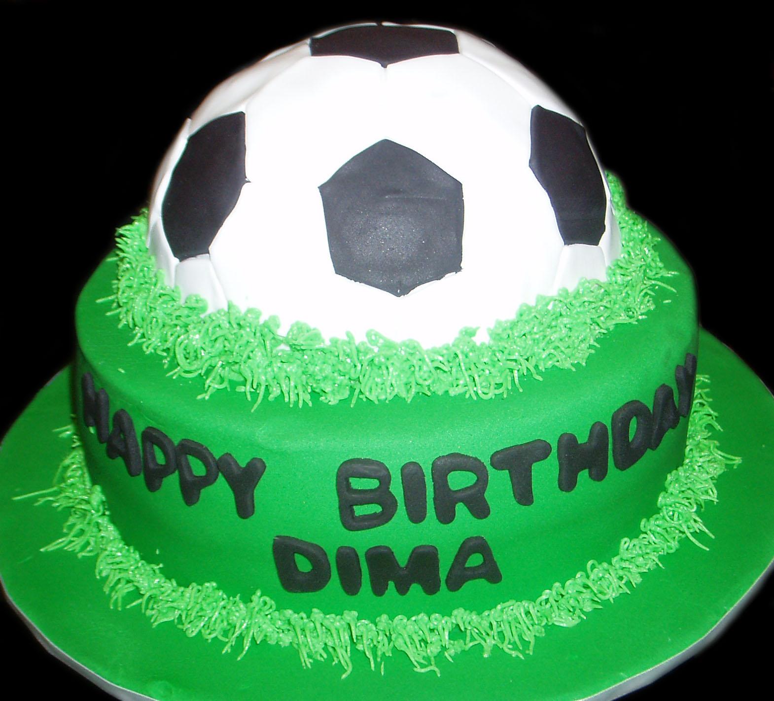 Nada s cakes: Soccer Birthday Cake - by Nada s Cakes Canberra