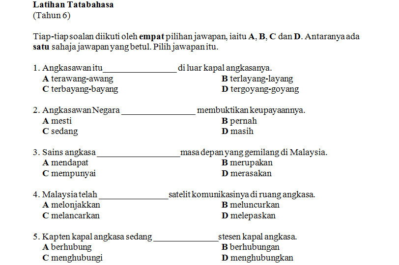 Soalan Bahasa Melayu Tingkatan 6 Penggal 1 Helowint