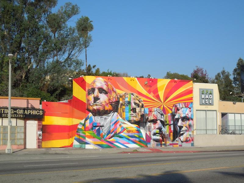 Eduardo Kobra Mount Rushmore mural LA