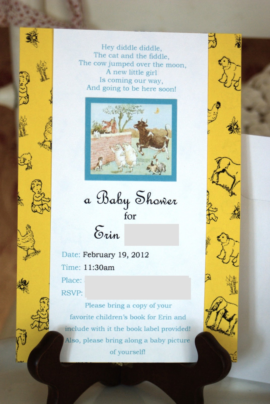 Lemonade and Lollypops: Golden Book Baby Shower Invitation