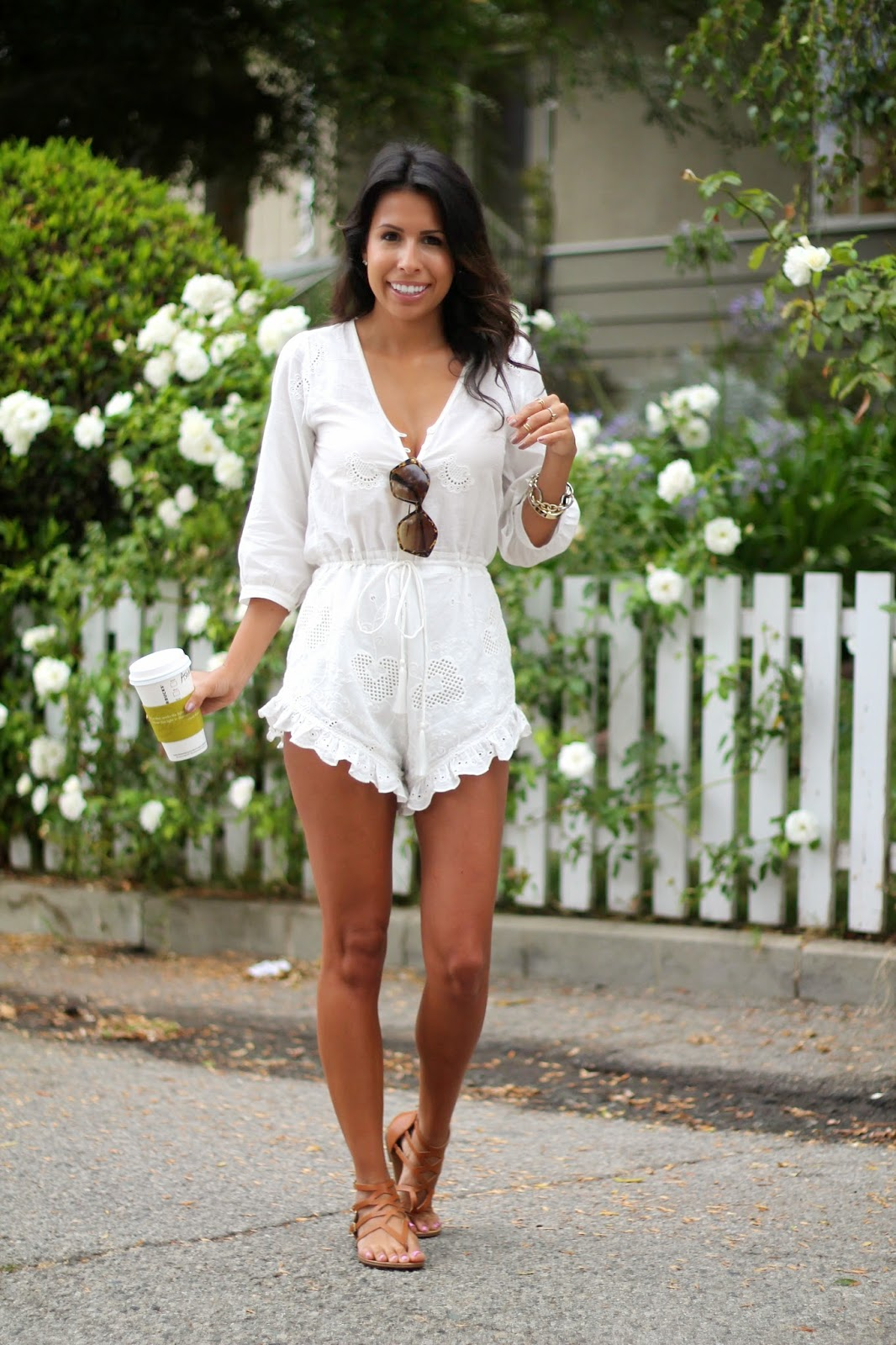 spell & the gypsy collective romper, how to wear white romper, summer look