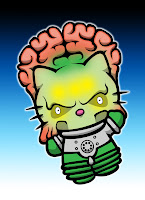 Hello Kitty in Mars Attacks costume