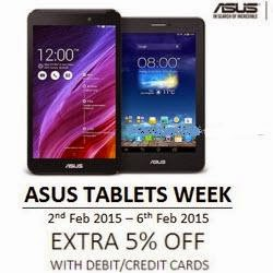 Flipkart: Buy Asus Tablets extra 5% off from Rs.7599