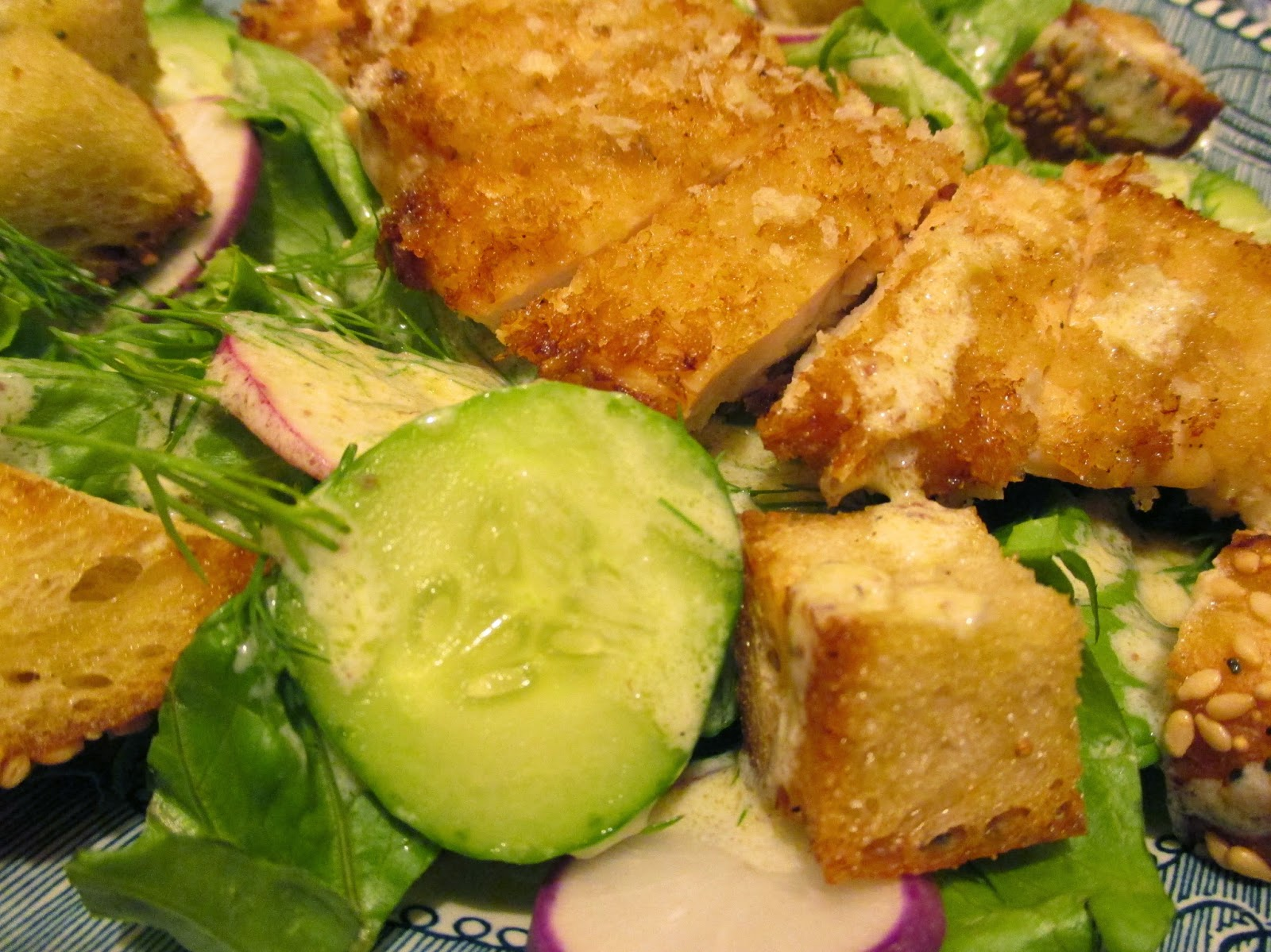 Buttermilk Country Fried Chicken With Cucumber Salad Recipe ...