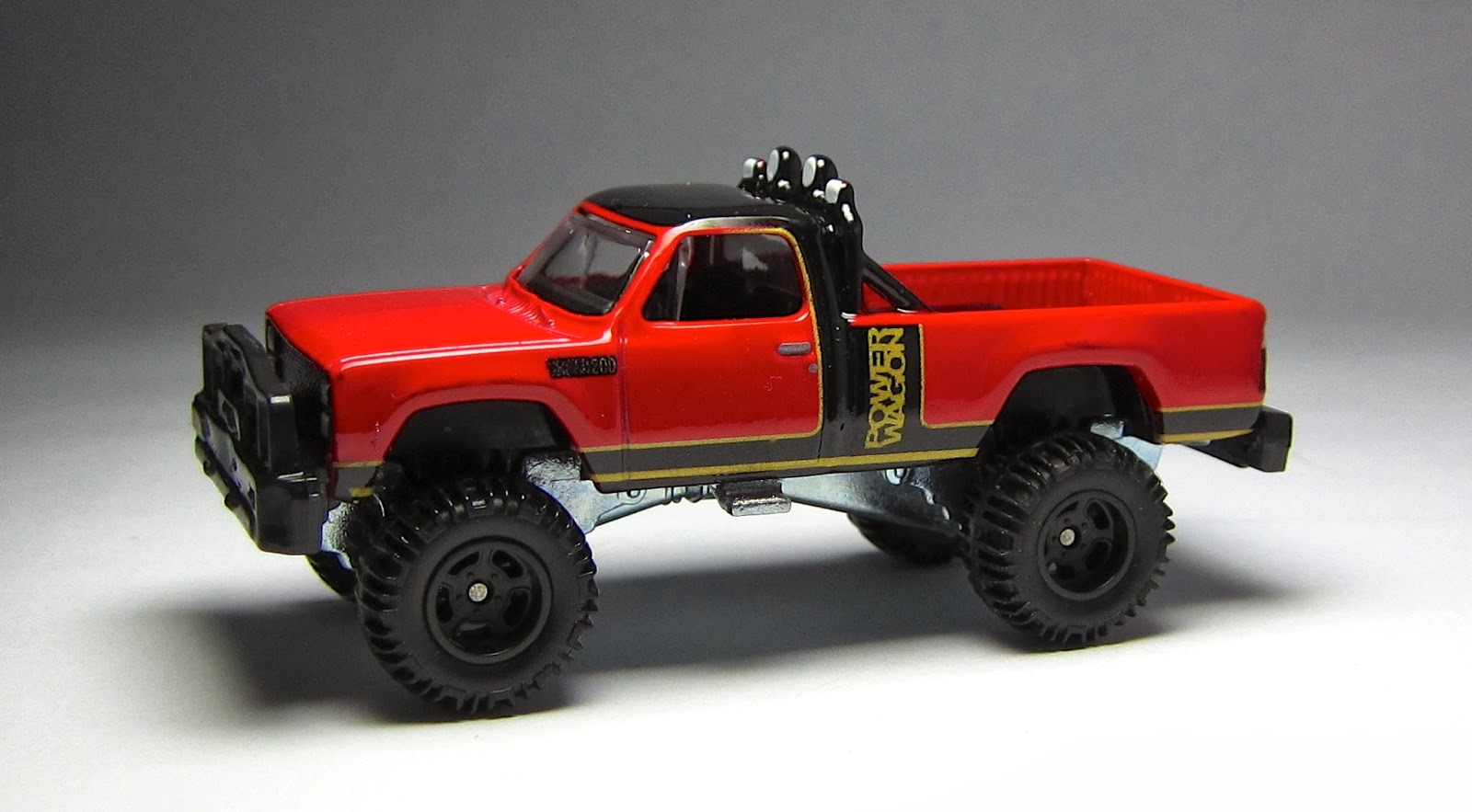 Matchbox Dodge Power Wagon on trucks with a 440 magnum engine