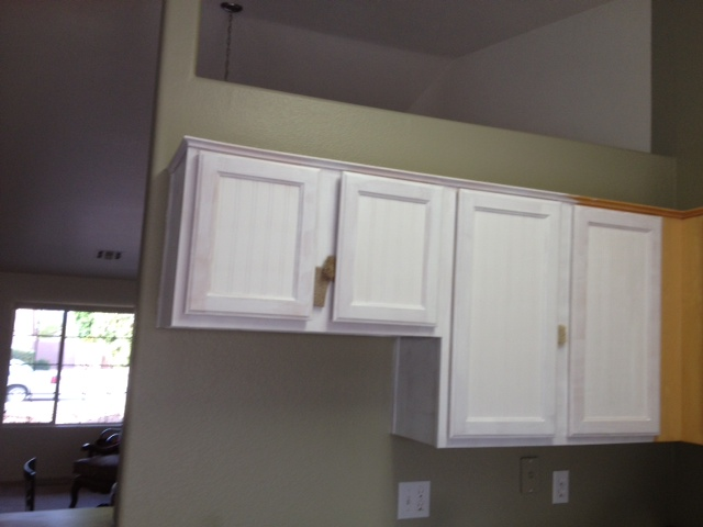 wall paper kitchen weathered or not kitchen cabinet makeover tutorial