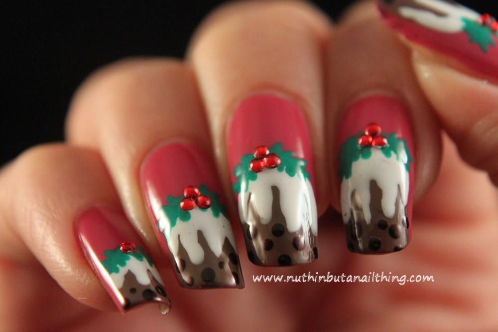 Nuthin But A Nail Thing Christmas Pudding Nail Art Tutorial