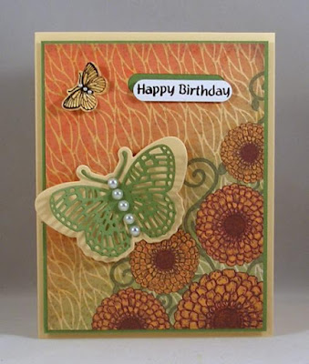 ODBD Butterfly and Bugs, ODBD Custom Butterfly and Bugs Dies, ODBD Custom Fancy Fritillary Dies, ODBD Blooming Garden Paper Collection, ODBD Customer Card of the Day by Lois Bak aka Clownmom