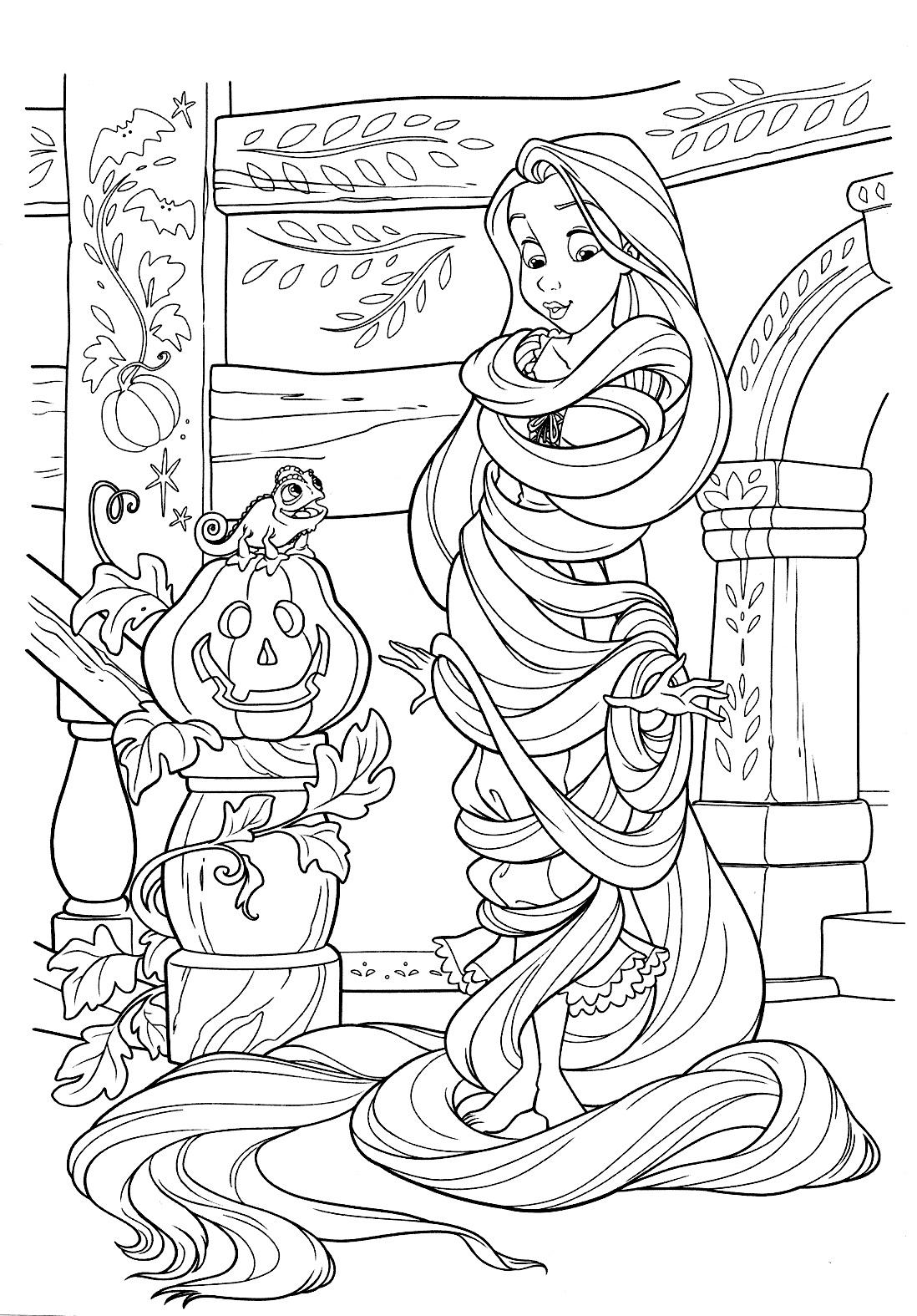 Desenho da RAPUNZEL para colorir Hello Kids